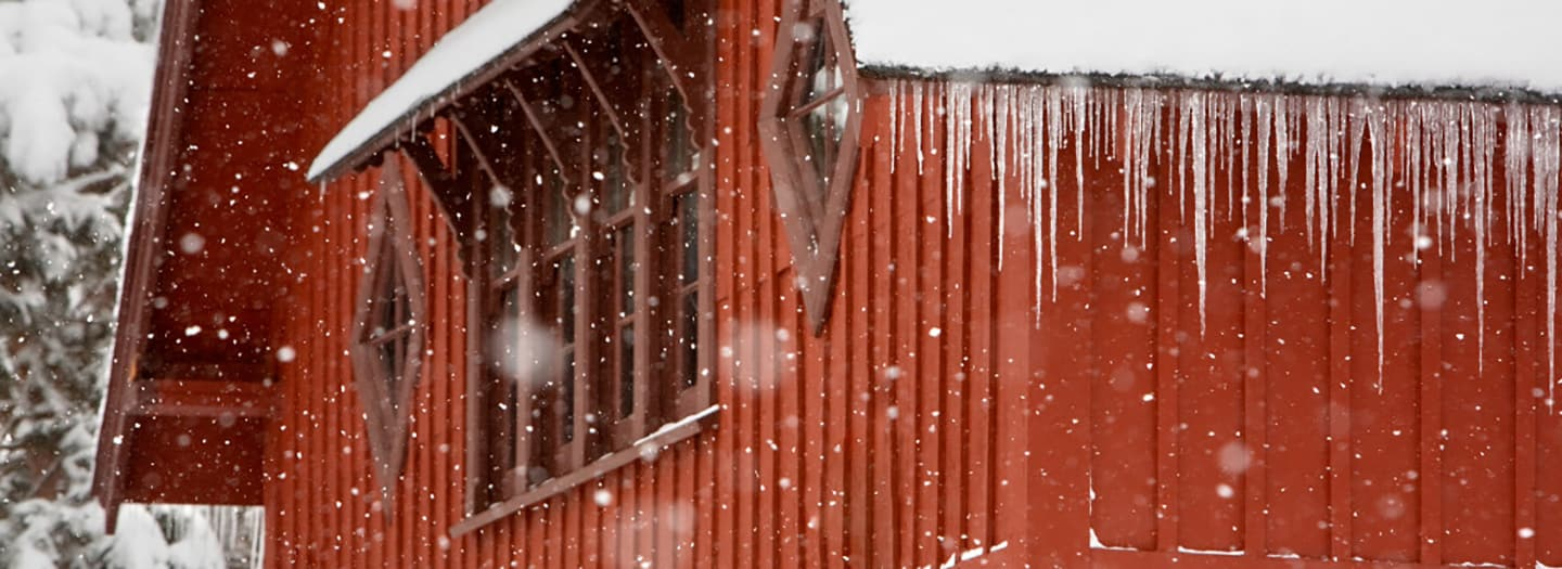 Big Red Barn in the winter