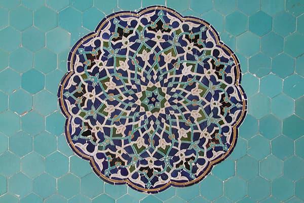 Turqoise mosaic tile