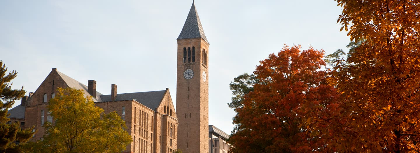 Cornell Clock Tower in Autumn
