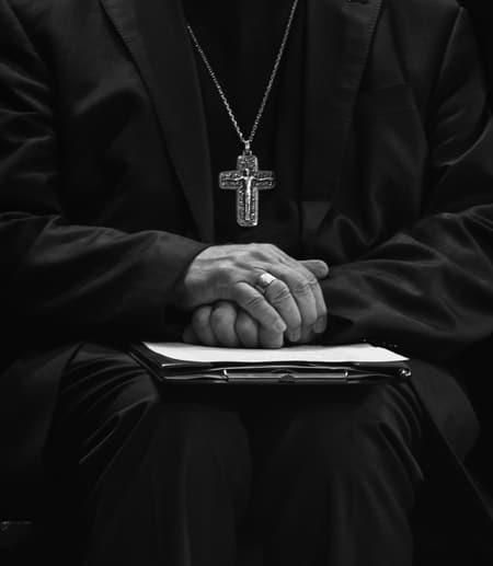 Priests hands