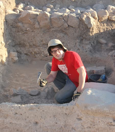 Jay Weimar at a dig site