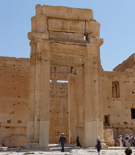 Palmyra stone building remains