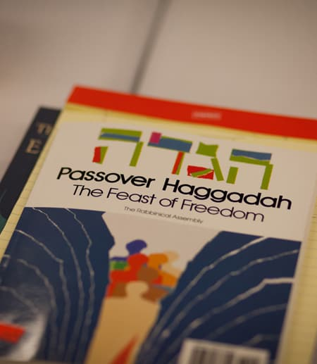brochure which reads Passover Haggadah the Feast of Freedom