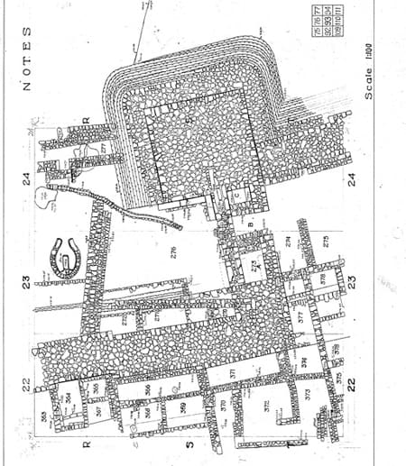 "Tell en-Nasbeh / Square T23 diagram (plan view) Aaron Brody. ""Bade Museum: 093_Plan.TIF (Image)"" (Released 2010-02-17). Aaron Brody (Ed.) Open Context. <http://opencontext.org/media/66F4CDB7-2984-4582-50C1-FC7E1F3876EE>"