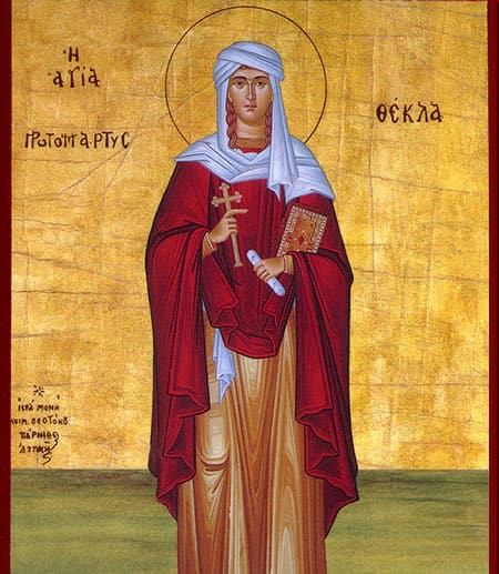 Medieval image of Saint Thecla