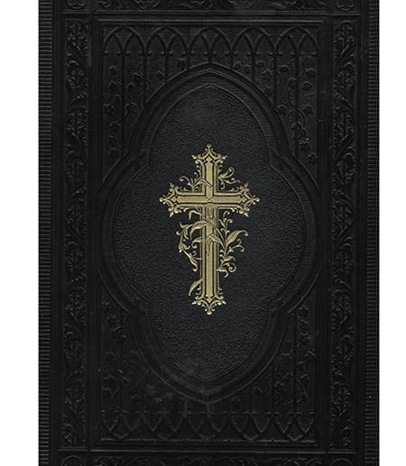 Bible with gold cross on cover