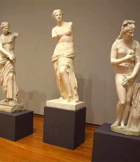 Plaster cast statues