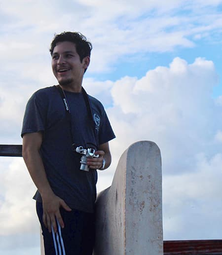 Cristian Gonzalez with camera